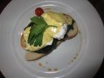 Eggs FLorentine in Lennox Cafe